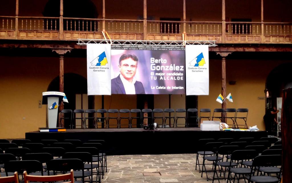 Magik en el cierre de campaña de C.C. en Garachico
