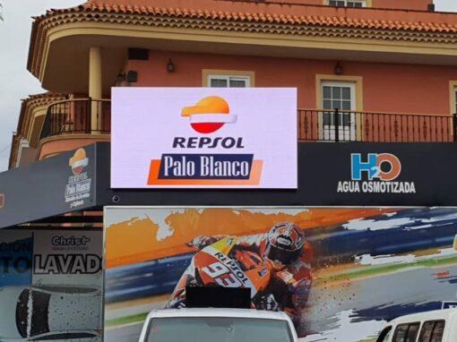 Pantalla LED P4,81 SMD Repsol Palo Blanco